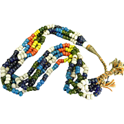 Vintage Trade Bead Four-Strand Necklace