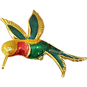 Colorful Hummingbird Brooch/Pin