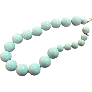 Soft Blue Color Kenneth Lane Large Bead Necklace