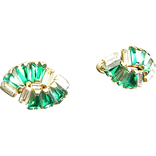 Dazzling Rhinestone Earrings by Phyllis 1950s