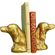Nice Pair of Plaster Dog Bookends