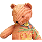 Handmade Teddy Bear from Vintage Chenille Bedspread