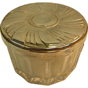 Crystal Powder Jar with Towle Sterling Lid