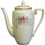 Worcester Rose Coffee Pot by Royal Worcester