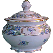 Schumann Bavaria Porcelain China Forget Me Not Sugar Bowl with Lid