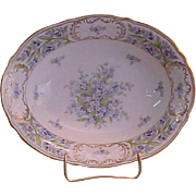 Schumann Bavaria Porcelain China Forget Me Not Open Vegetable Bowl