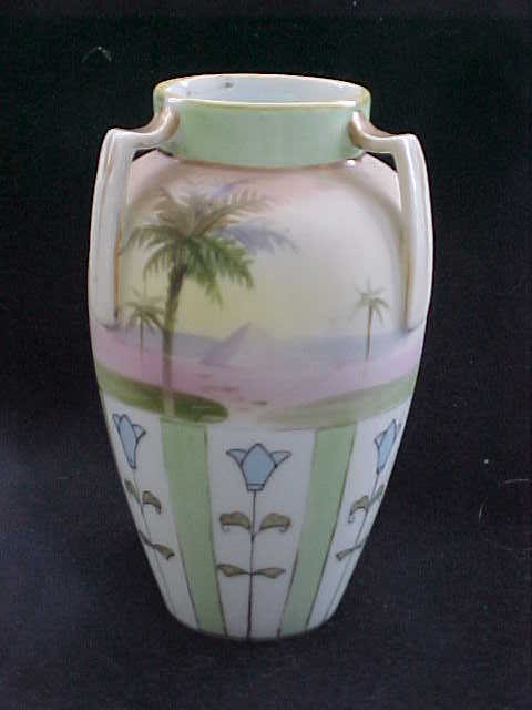 Nippon Egyptian Revival Urn-shaped Vase from early 20th Century