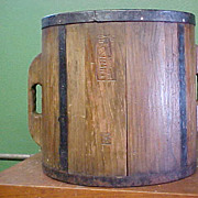 Old Wooden Japanese Rice Measure Bucket (Ittomasu) - Red Tag Sale Item