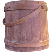 Folksy Old Wooden Bucket