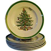"Spode Christmas Tree 6 7/16"" Plates - Red Tag Sale Item"