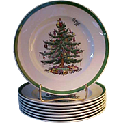 "Spode Christmas Tree 7 ¾"" Plates - Red Tag Sale Item"