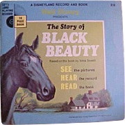 Charming Children's Disney Record and Picture Book Black Beauty