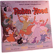 Cute Children's Disney Record and Picture Book Robin Hood