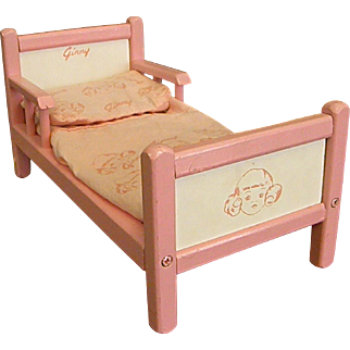 Early 1950s Vogue Ginny Doll Bed