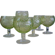 Mid-Century Cabbage Green 20 0z Goblets for SECLA Pottery