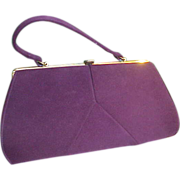 Luscious Purple 1950s Handbag