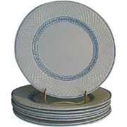 Beautiful Spode Elaine Blue (Mansard) Luncheon Plates - Red Tag Sale Item