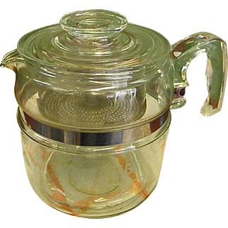 1950s Pyrex 6-Cup Stove Top Percolator Coffee Pot