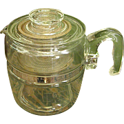 1950s 6-Cup Pyrex Glass Coffee Pot