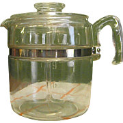 1950s Pyrex Glass 9-Cup Coffee Pot