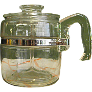 1950s Pyrex Glass 6-Cup Coffee Pot