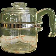 1950s Pyrex Glass 6-Cup Coffee Pot