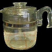 1950s Pyrex 9 Cup Stove Top Percolator Coffee Pot
