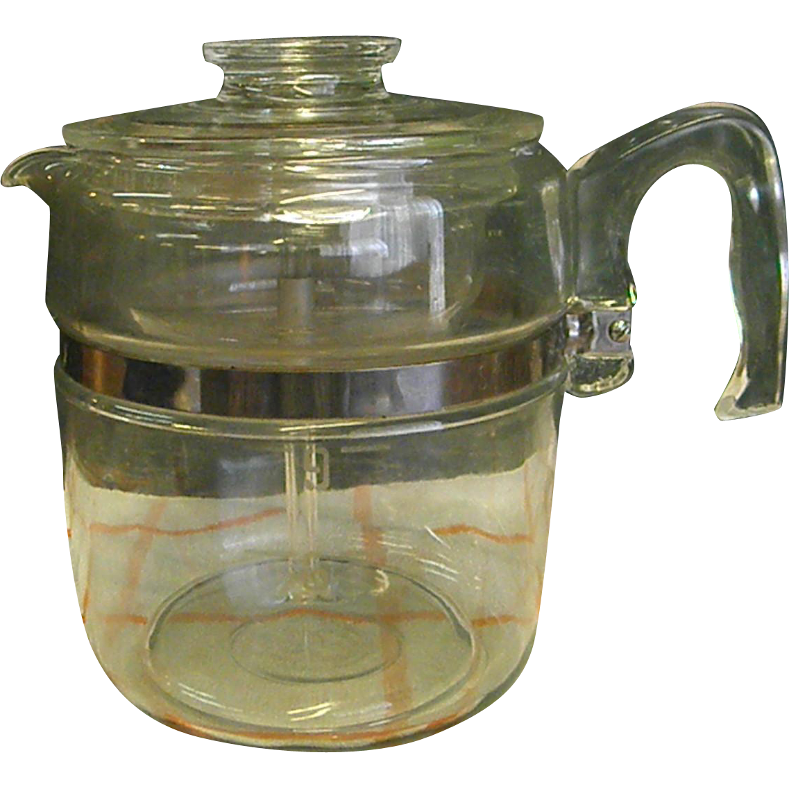 Reserved for Tom - 1950s Pyrex 9 Cup Stove Top Percolator Coffee Pot