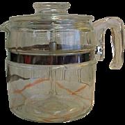 Vintage Pyrex 6 Cup Coffee Pot - Complete
