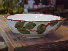 Vintage Hand Painted Stangl White Dogwood Lugged Soup Bowl - Red Tag Sale Item