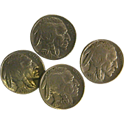 Set of Genuine Buffalo/Indian Head Nickel Button Covers