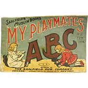 1906 Saalfield Muslin Book My Playmates ABC Book