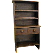Rustic Homemade Doll/Child's Step Back Kitchen Cabinet/China Cabinet