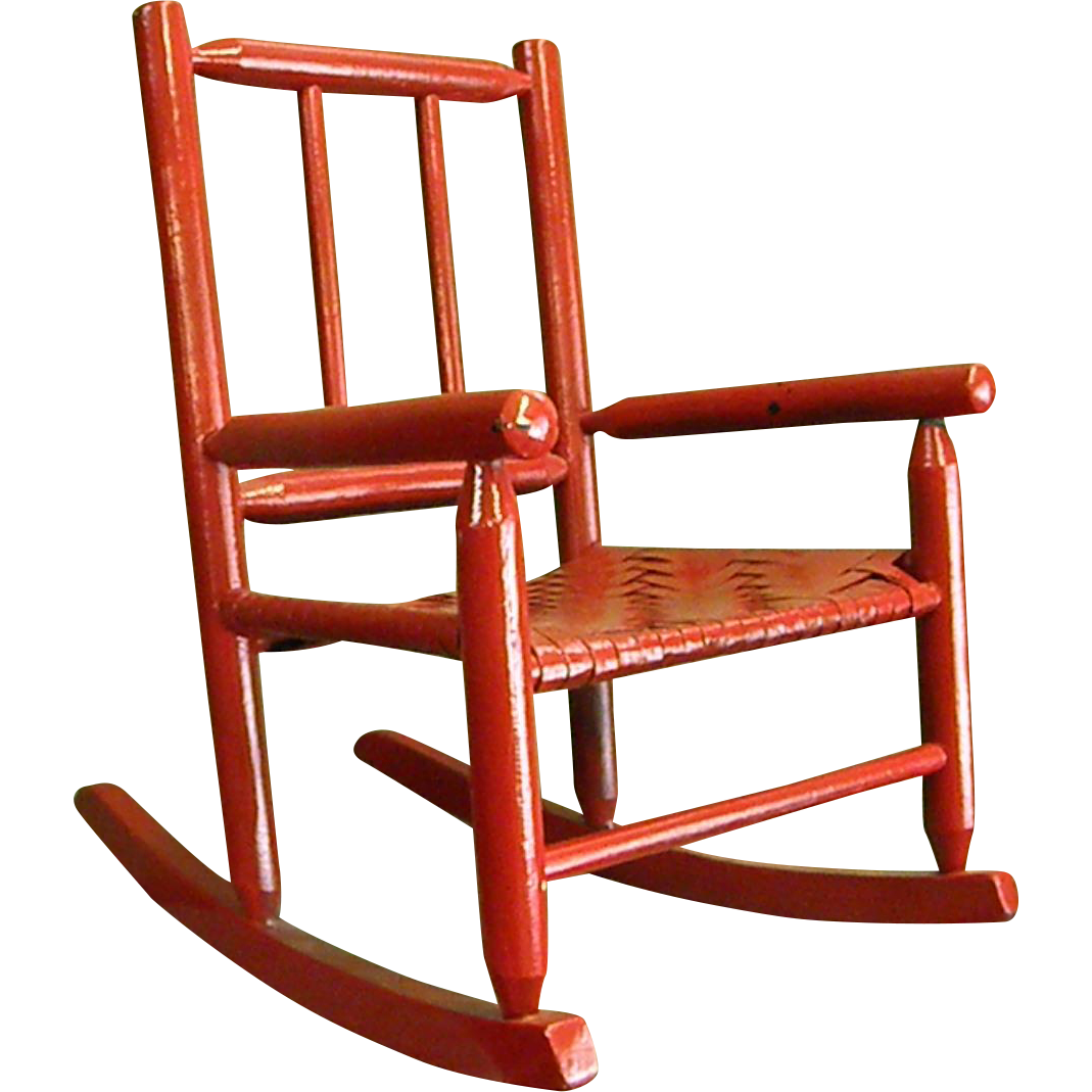 Child Red Rocking Chair ~ Darling red painted child s rocking chair from