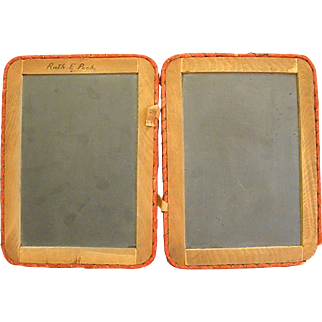 19th Century School Classroom Double Slate Tablet Set
