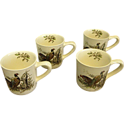 Johnson Brothers Game Birds Pheasant Mugs Set of 4
