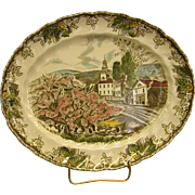 Johnson Brothers The Friendly Village Oval Platter The Village Green