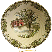 Johnson Brothers The Friendly Village Round Open Vegetable Bowl Autumn Mists