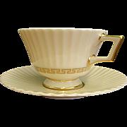 Elegant Lenox Cretan Cups and Saucers