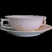Vintage Rosenthal Sans Souci Ivory Color Cream Soup Bowl with Saucer