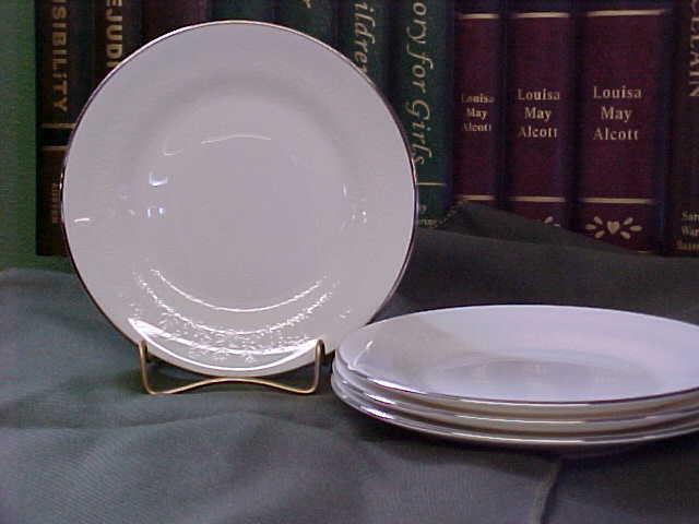 Elegant Wedgwood Silver Ermine Bread Plates From