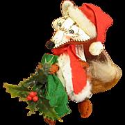 Annalee Mobil-tee 1981 Christmas Fox in Santa Suit