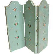 Darling Dollhouse Two-Sided Dressing Screen or Room Divider