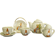 Darling Shackman Doll Tea Set with Rabbits