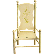 Cute Tall Doll Chair with Fluted Legs