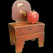Rustic Homemade Old Doll Dresser