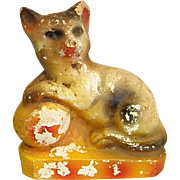 Vintage Chalkware Cat Carnival Chalkware
