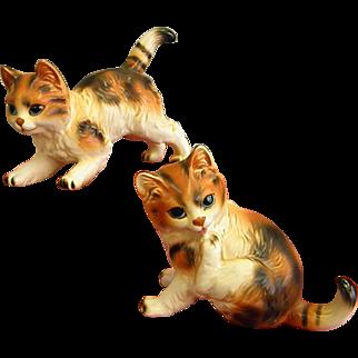 Pair of Vintage Napcoware Kitties from 1979