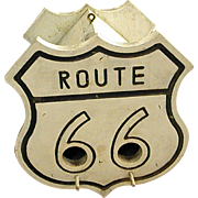 Homemade Birdhouse with Route 66 Sign Design
