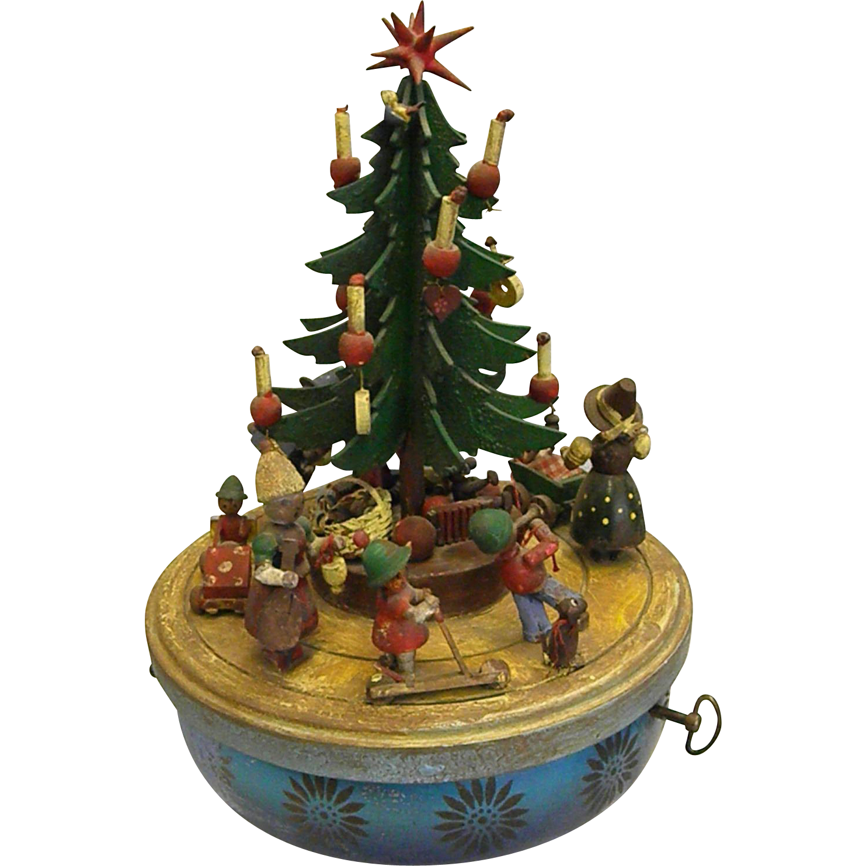 Christmas Tree Merry Christmas: Charming Vintage Steinbach Musical Christmas Tree Merry-Go